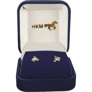 HKM hopeiset hevosenpää korvakorut