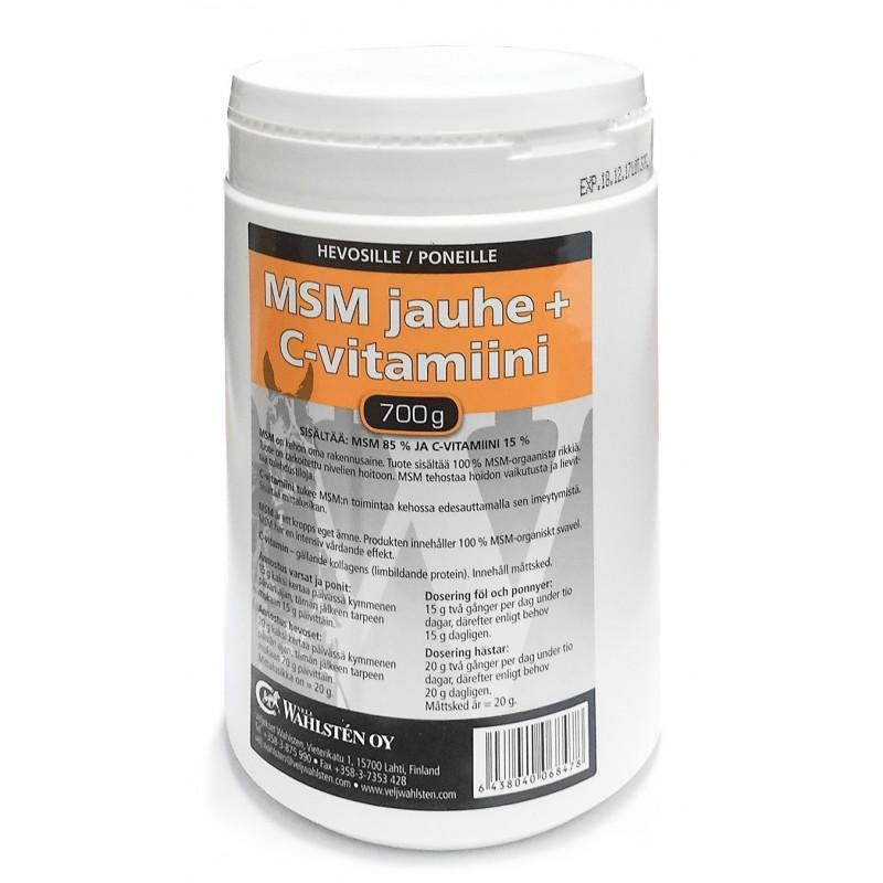 W-MSM jauhe + C-vitamiini 700g